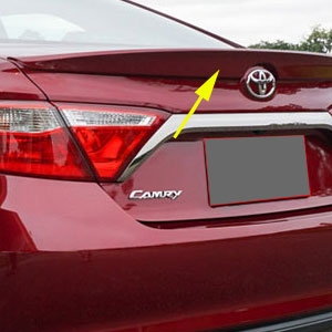 WT ABS412 2T toyota camry lip mount painted rear spoiler, 2015, 2016, 2017